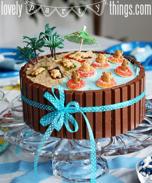 MegMade Cakes: Sophia's Beach Party cake |Beach Themed Birthday Cakes