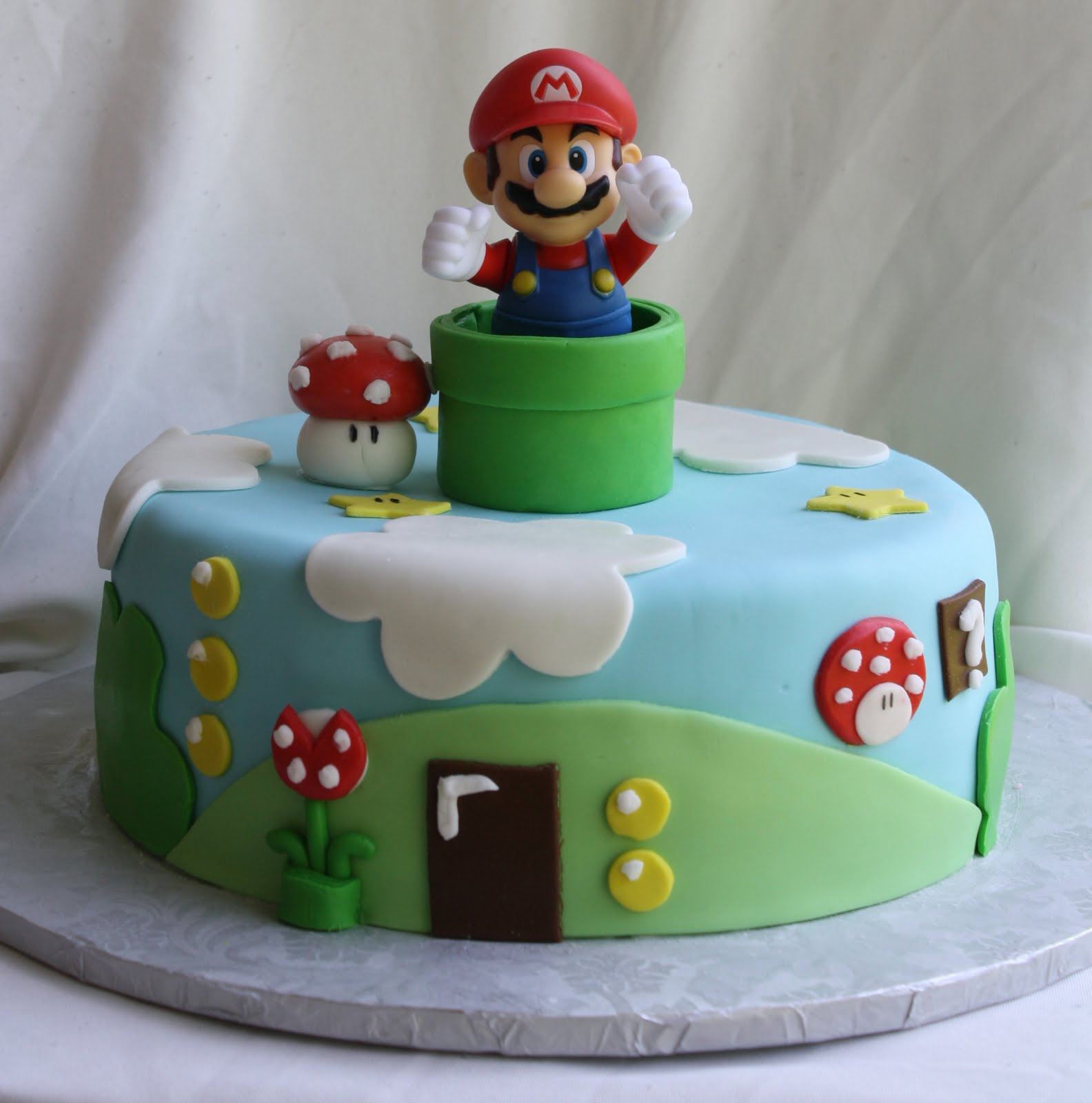 Wondrous Mario Brother Cake Teach Where You Live Funny Birthday Cards Online Alyptdamsfinfo