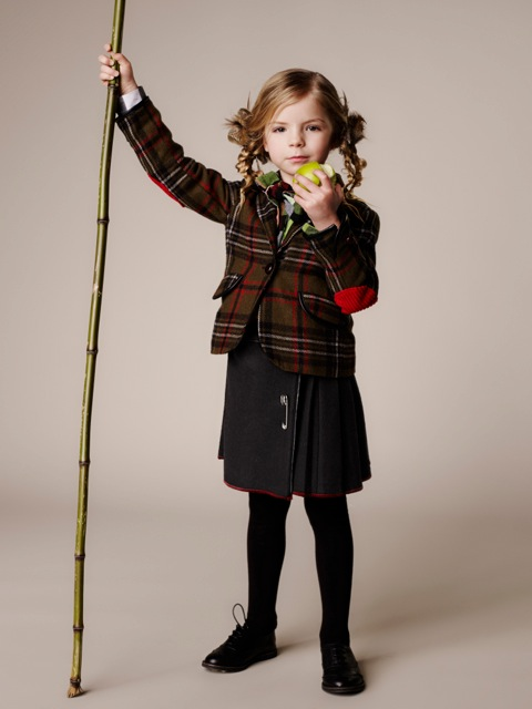 Old-Skool-style-kilt-skirt-and-plaid-jacket-from-Delunas-Kids-for-fall-winter-2013
