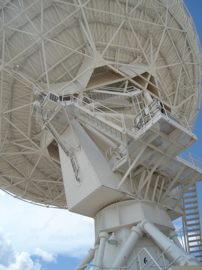 close up parabolic dish