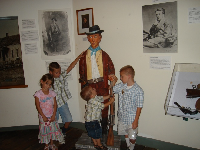 the kids with Billy the Kid