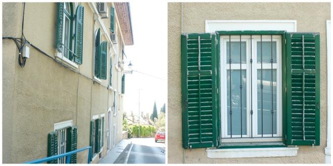 volosko, green shutters